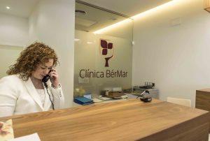 recepción en clínica BérMar en Córdoba